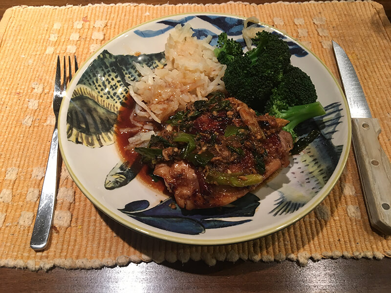 Teriyaki Chicken with Scallions