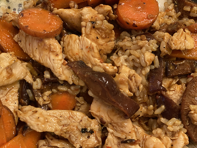 Chinese Chicken with Carrots and Shiitake Mushrooms