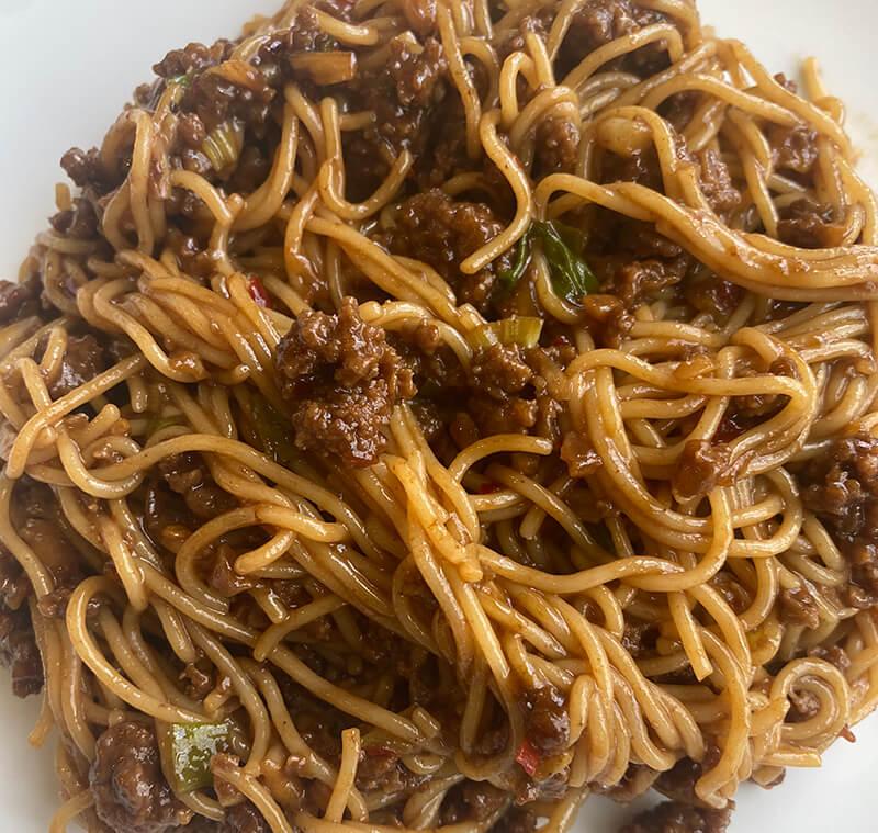 hoisin beef and ramen noodles