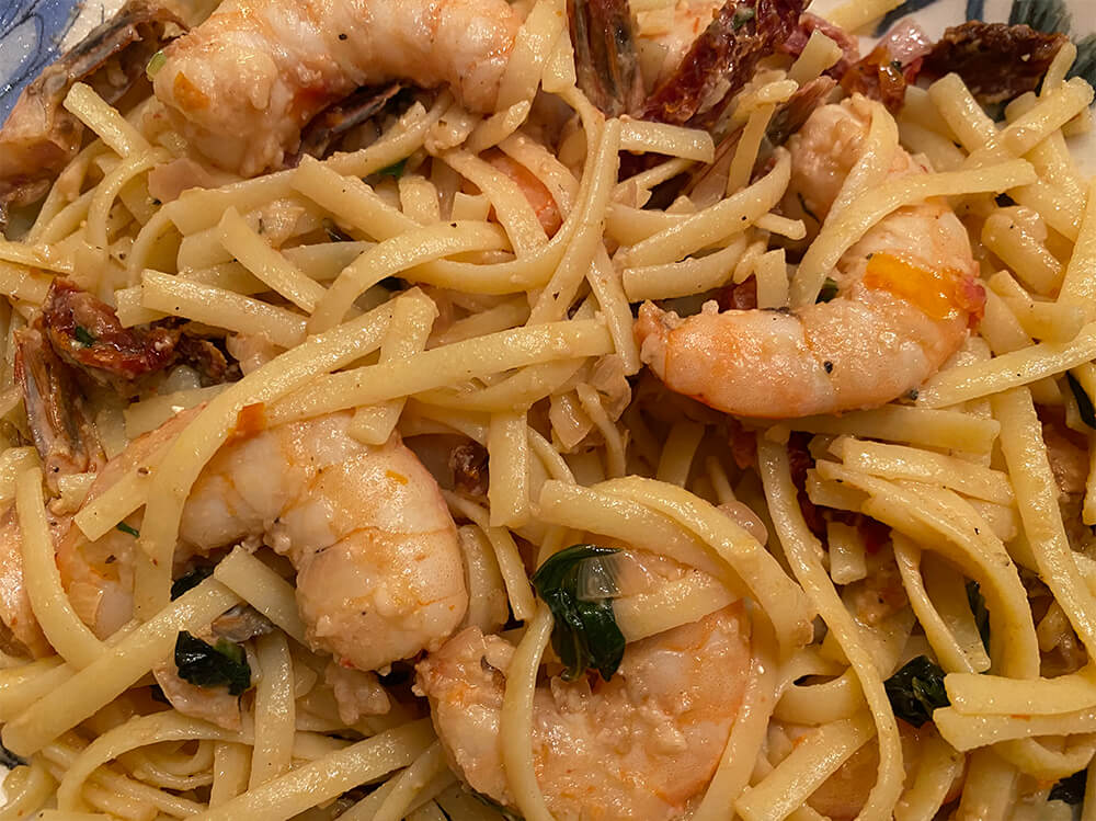 Garlic Shrimp Scampi with Sun Dried Tomatoes