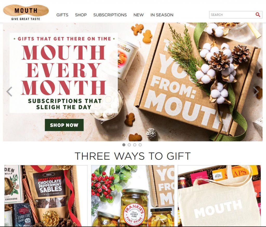 mouth.com homepage